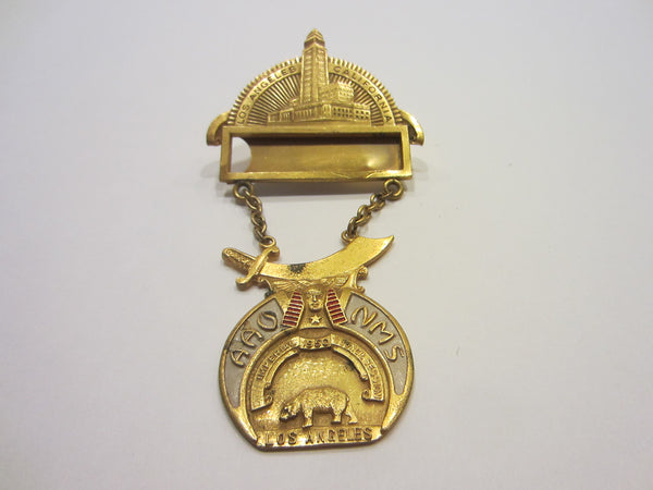 A Commemorative Los Angeles California Imperial 1950 Council Session Brooch Medal