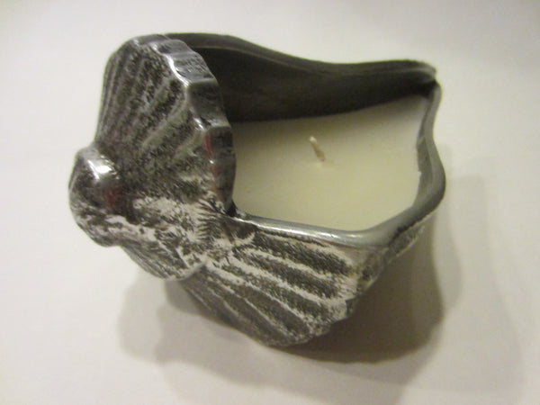 Pewter Votive Seashell Candle Holder - Designer Unique Finds