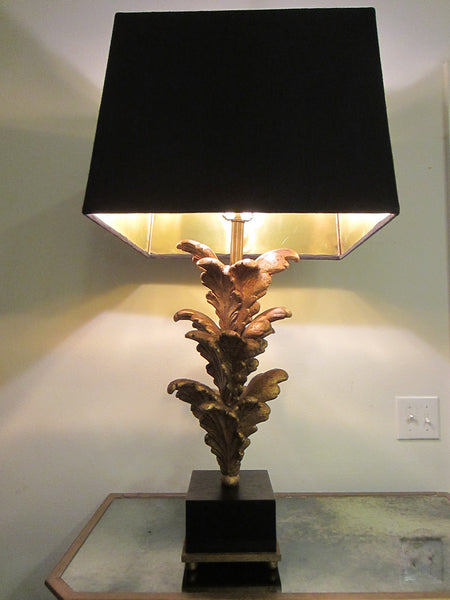 Composition Gold Acanthus Leaf Modern Lamps - Designer Unique Finds   - 3