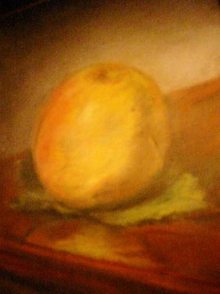 Impressionist Peach Pastel On Board Still Life Fruit Artist Signed In Paris France Provenance - Designer Unique Finds   - 2