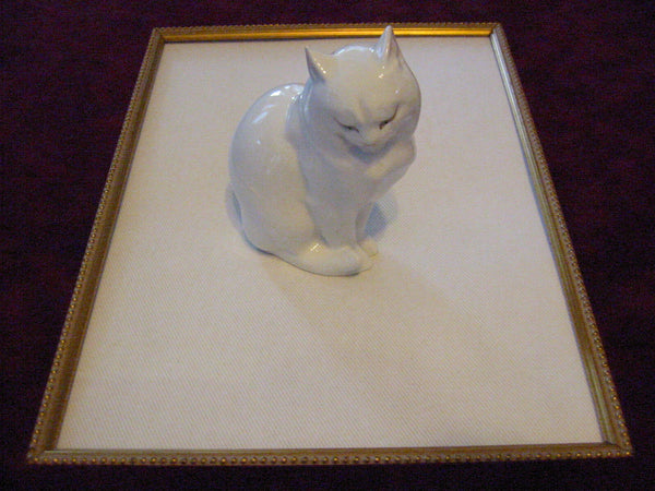 Herend Cat Figurine Hand Painted Signed Porcelain - Designer Unique Finds   - 2