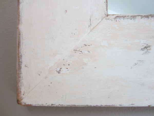 Modern Shabby Chic Style Square Design Wall Mirror - Designer Unique Finds