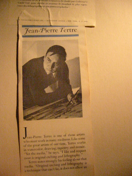 Jean Pierre Tretre French Impressionist Signed Lithograph - Designer Unique Finds   - 4