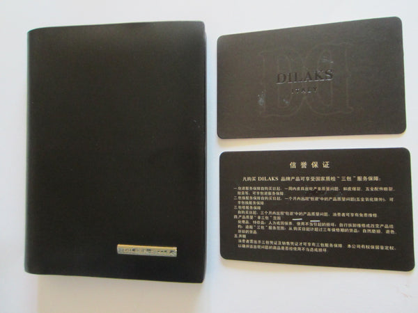 Dilak Billfold Wallet Made in Italy Genuine Vegetable Black Leather - Designer Unique Finds   - 5