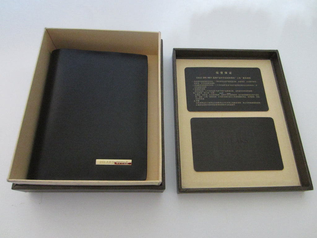 Dilak Billfold Wallet Made in Italy Genuine Vegetable Black Leather - Designer Unique Finds   - 1