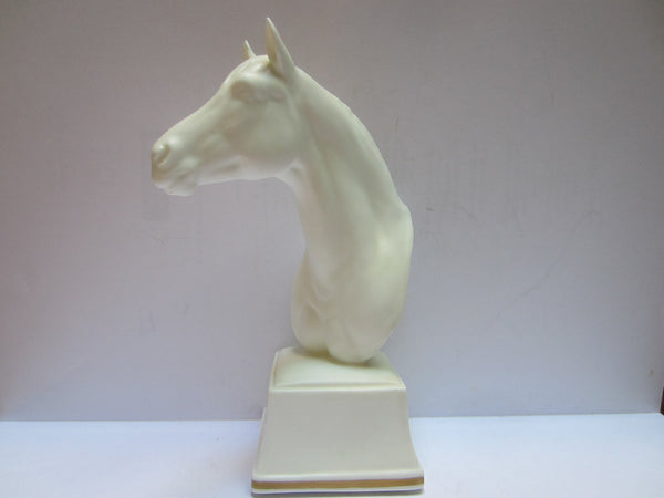 Astrope White Horse Bust Equestrian Royal Worcester Fine Bone China England - Designer Unique Finds