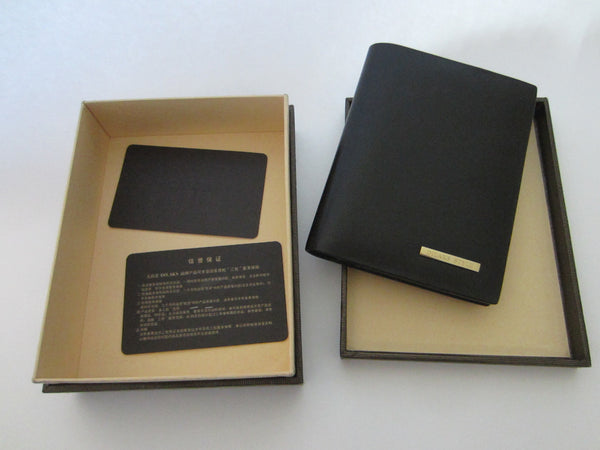 Dilak Billfold Wallet Made in Italy Genuine Vegetable Black Leather - Designer Unique Finds   - 3
