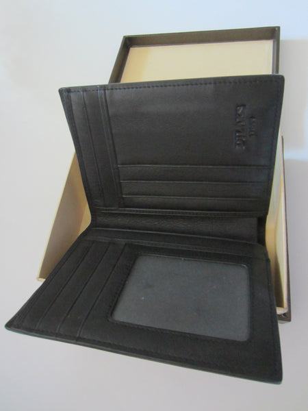 Dilak Billfold Wallet Made in Italy Genuine Vegetable Black Leather - Designer Unique Finds   - 4