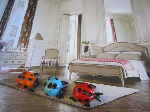 Art Glass Group of Five Lady Bugs