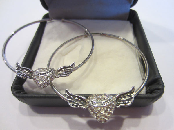Juicy Couture Hoop Signature Earrings Decorated Swarovsky Crystals