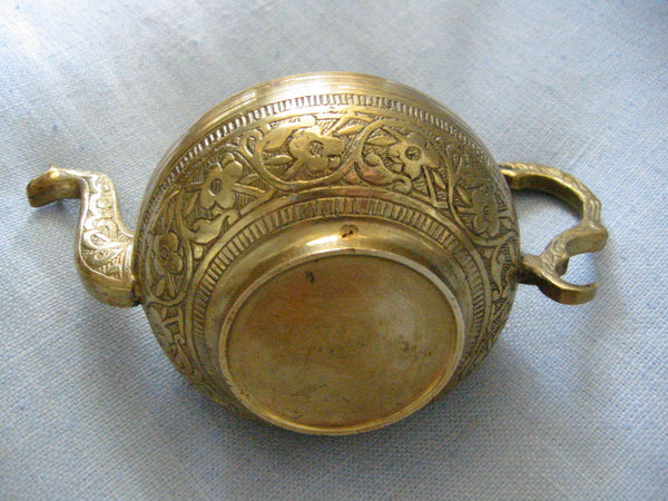 Brass Celtic Teapot Eastern Inspiration Asian Design - Designer Unique Finds   - 5