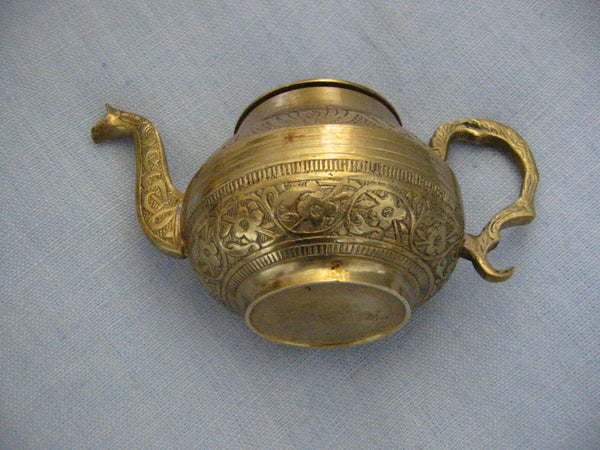 Brass Celtic Teapot Eastern Inspiration Asian Design - Designer Unique Finds   - 4