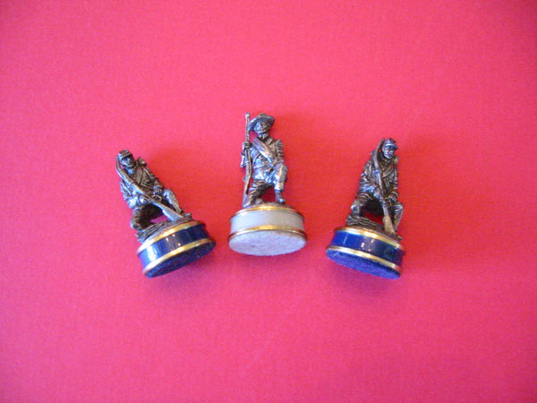 Miniature Civil War Pewter Soldiers Makers Marks Copyrighted Enameled Stands - Designer Unique Finds   - 2