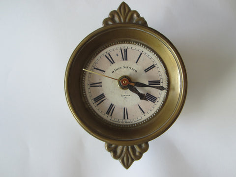 Thos Saville London Timeworks Brass Crested Clock London Wall Decor - Designer Unique Finds