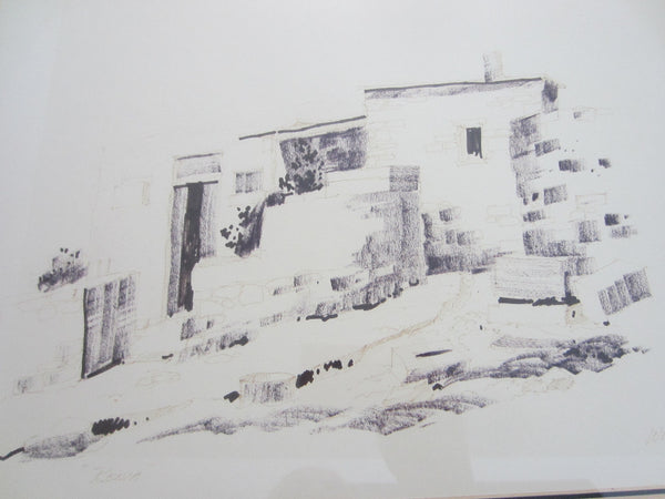 Woolfe 79 Rania Abstract Drawing Signed by Artist Dated Titled