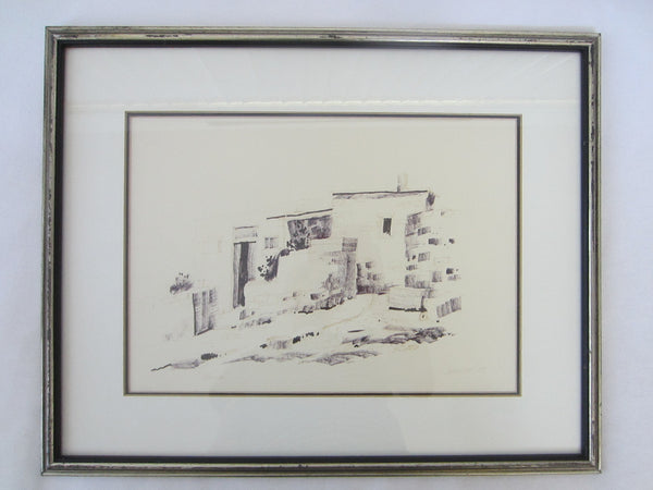 Abstract Black And White Drawing Guache Signed Woolfe Titled Renia - Designer Unique Finds