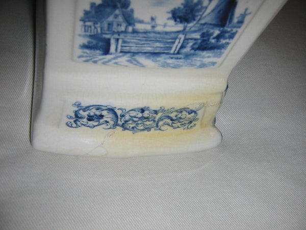 Ansonia Royal Bonn Porcelain Windmill Mantle Mantle Clock - Designer Unique Finds   - 8