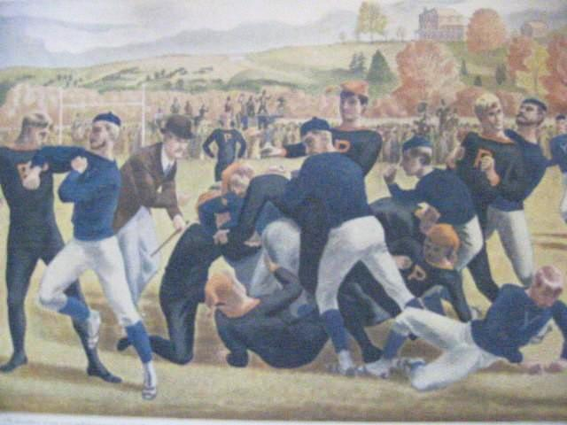 Currier Ives The First Intercollegiate Yale Princeton Football Game Circa 1930 Art - Designer Unique Finds   - 1