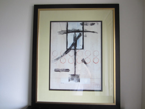 Abstract Lithograph Contemporary Art Artist Monogram - Designer Unique Finds   - 3