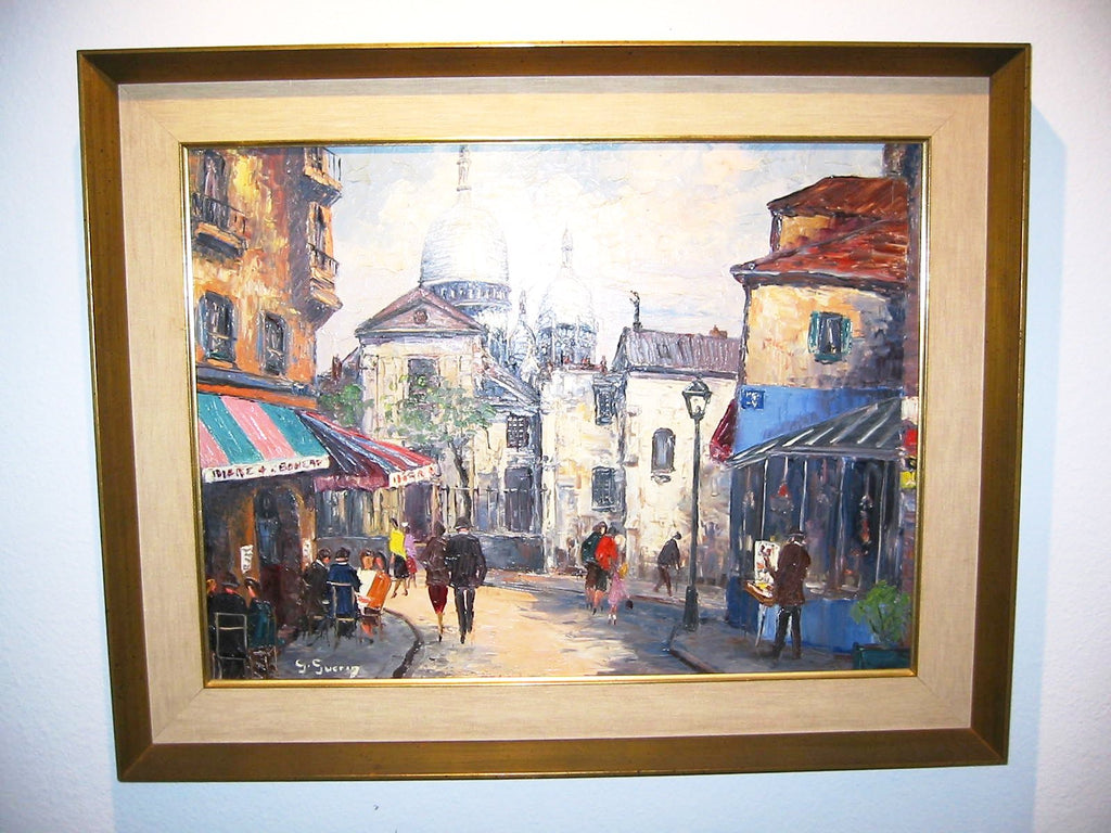 Attriubuted S Sverin St Pierre d Montmartre Paris Impressionist Oil On Canvas - Designer Unique Finds   - 2