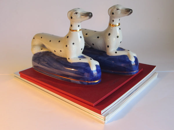 Dalmatians Porcelain Bookends - Designer Unique Finds   - 1