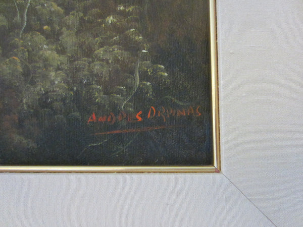 Andres Orpinas Landscape Signed Oil On Canvas - Designer Unique Finds