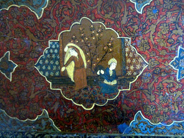 The Golden Age Persian Folk Art Miniature Print Figurative Safavid Dynasty Inspire