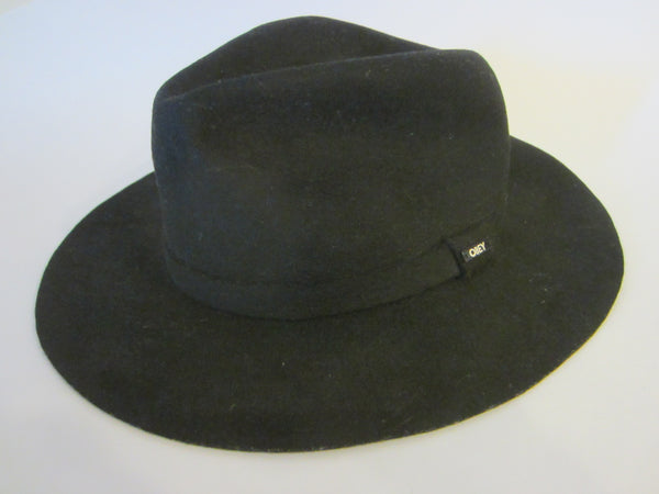 Obey Propaganda Black Wool Fedora Fashion Hat