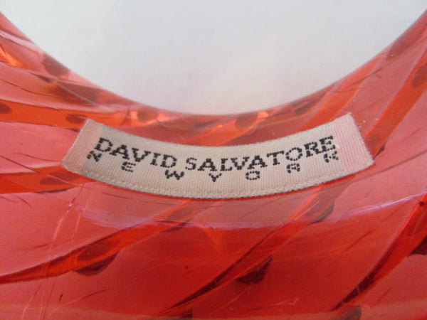 David Salvatore New York Fiery Red Bangle Spiral Style Bracelet - Designer Unique Finds   - 2