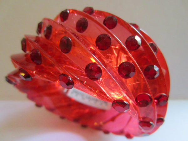 David Salvatore New York Fiery Red Bangle Spiral Style Bracelet - Designer Unique Finds   - 3