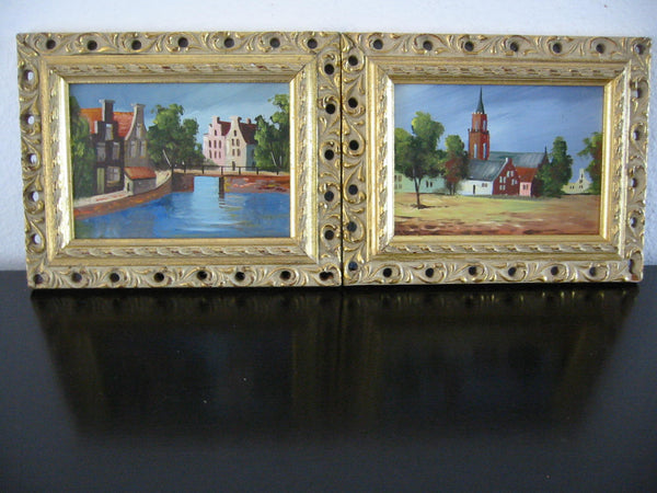 Koostra Impressionist City Escape Oil On Board Belgian Paintings - Designer Unique Finds
