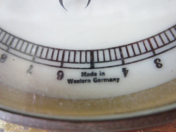 Western Germany Porcelain Face Wall Barometer - Designer Unique Finds