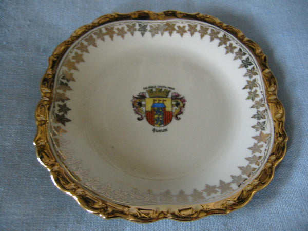 Bavaria Porcelain Bowl Center Gilt Crested Coat of Arm Medallion - Designer Unique Finds   - 4