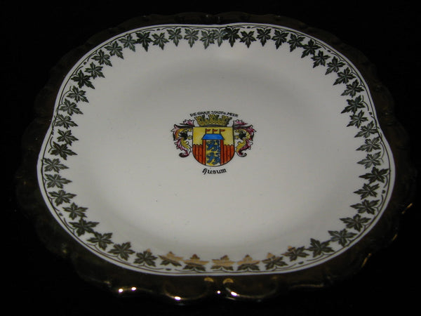 Bavaria Porcelain Bowl Center Gilt Crested Coat of Arm Medallion - Designer Unique Finds   - 2