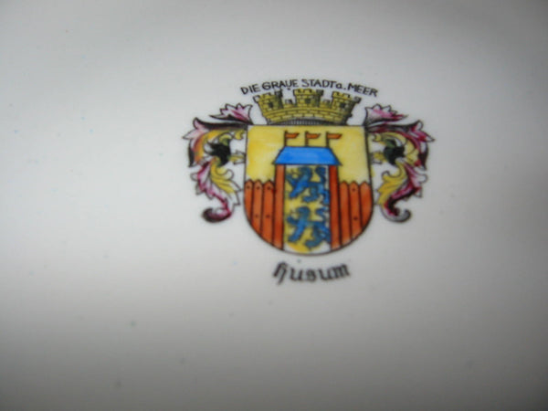 Bavaria Porcelain Bowl Center Gilt Crested Coat of Arm Medallion - Designer Unique Finds   - 3