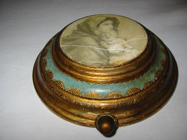 Florentine Music Box Swiss Movement Reuge Italy Madonna Child - Designer Unique Finds   - 3