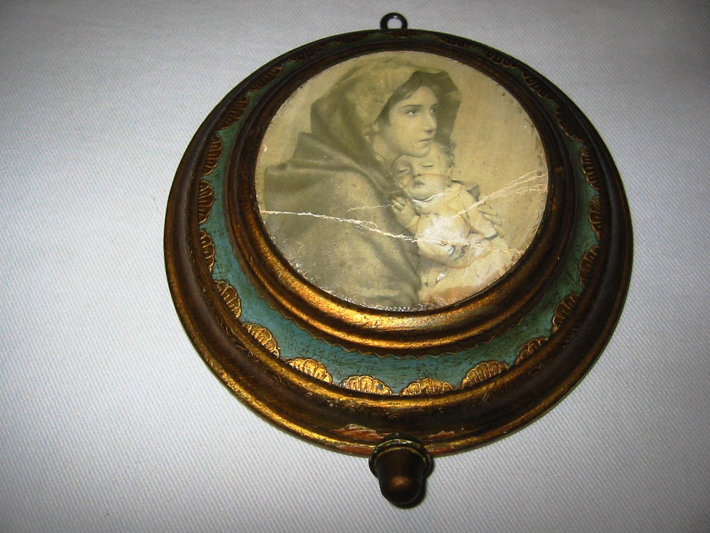 Florentine Music Box Swiss Movement Reuge Italy Madonna Child - Designer Unique Finds   - 1