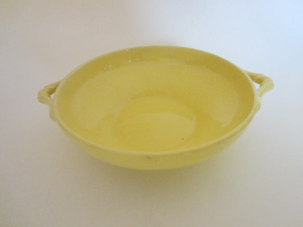 Yellow Ceramic Candy Bowl With Handles - Designer Unique Finds