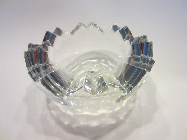 Rosenthal Studio Linnie Geometric Cut Glass Bowl - Designer Unique Finds