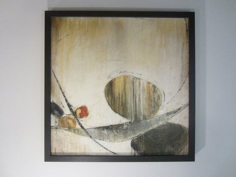 Abstract Modern Oil On Canvas Titled Sculpture Signed Taylor