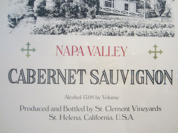 A Wine Art Poster St Clement Napa Valley Cabernet Sauvignon