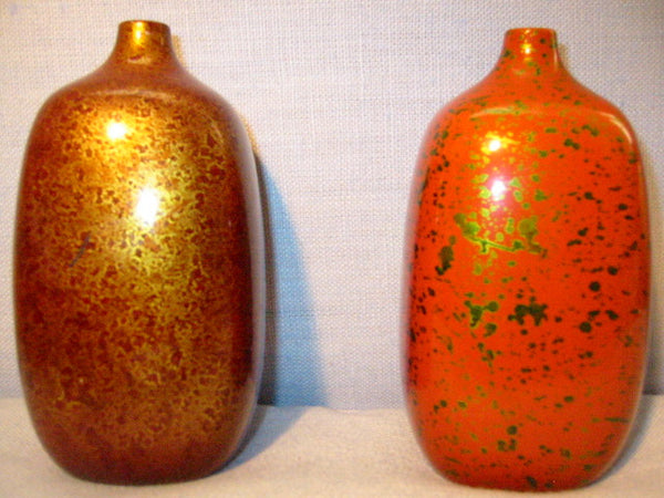 Ceramic Vases Fine Arts Japan Gold Specs - Designer Unique Finds   - 1