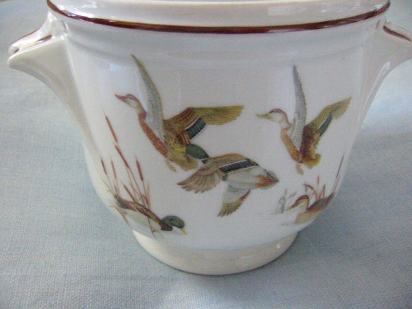 Porcelain Planter Dure Georges Boyer Limoges France Flying English Birds - Designer Unique Finds   - 3