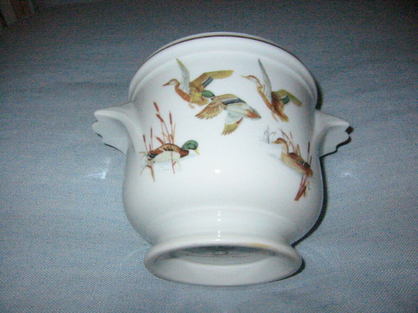 Porcelain Planter Dure Georges Boyer Limoges France Flying English Birds - Designer Unique Finds   - 6