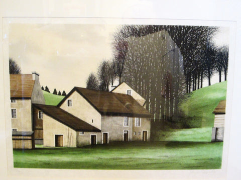 Jacques Deperthes Lithograph Signed In Pencil Numbered Framed - Designer Unique Finds   - 1