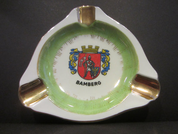 Bamberg Pictorial Coat of Arm Vintage Porcelain Ashtray