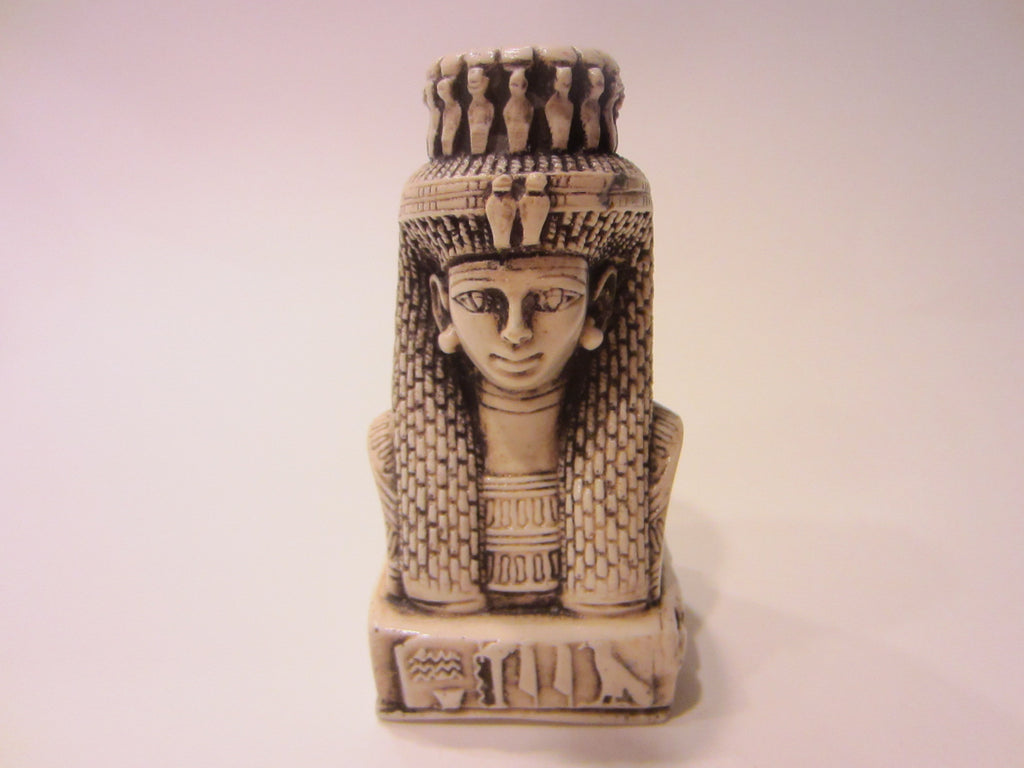 Egyptian Revival Resin Bust Classic Figure Titled Character Relief