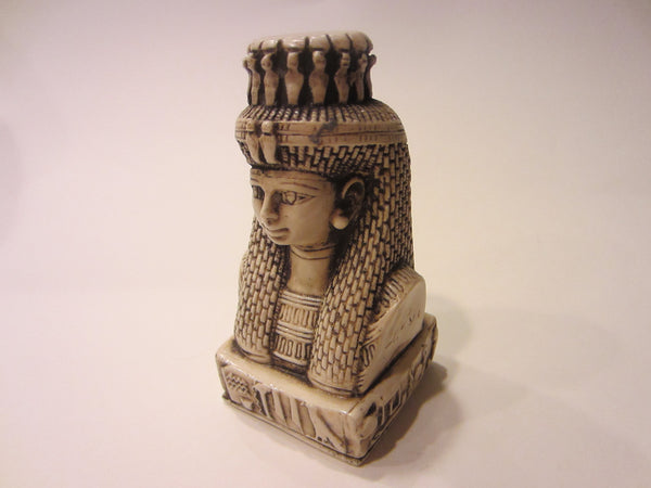 Egyptian Revival Resin Bust Classic Figure Titled Character Relief - Designer Unique Finds