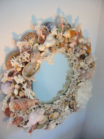 California Seashell Mirror Modernist Designed By Artist - Designer Unique Finds