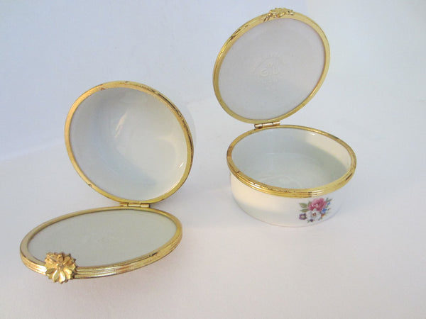 G Labesse Porcelain Limoges Made in France Modele Exclusiff Trinket Boxes - Designer Unique Finds   - 6